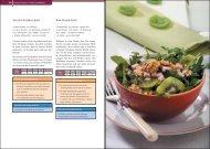 Zucchini-Krabben-Salat Kiwi-Rucola-Salat