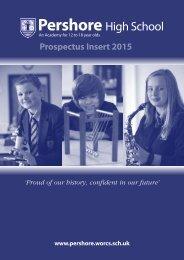 School Prospectus 2013/2014 - Pershore High School