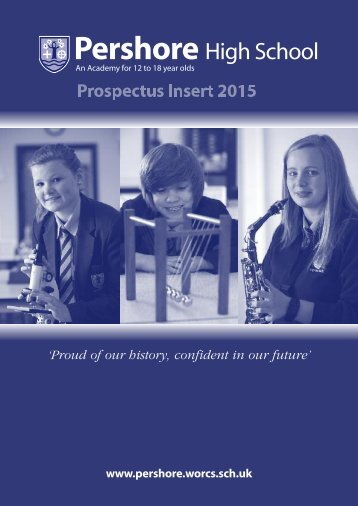 School Prospectus 2013/2014 - Pershore High School