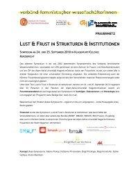 lust & frust in strukturen & institutionen - Verband feministischer ...