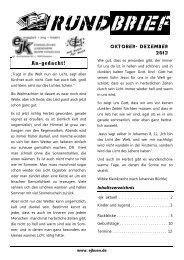 Rundbrief 2013/4 - Evangelisches Jugendwerk Bezirk Künzelsau
