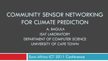 community sensor networking for climate prediction - EuroAfrica-ICT