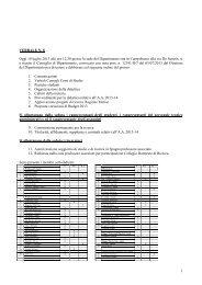 Verbale Consiglio di Dipartimento n.8 2013 - Università degli Studi ...