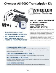 Olympus AS-7000 Transcription Kit - Wheeler Business Machines