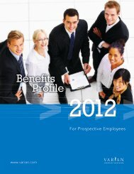 For Prospective Employees - Varian