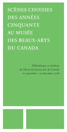 Scènes choisies - National Gallery of Canada
