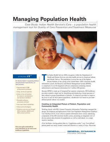 Managing Population Health - General Dynamics Information ...