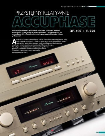 Accuphase DP-400 + E-250 - Audio