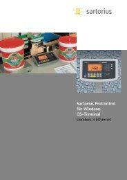 Sartorius ProControl für Windows QS-Terminal Combics 3 Ethernet