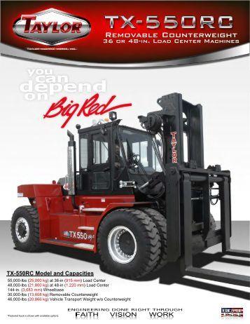 TX-550RC Brochure - Taylor Machine Works