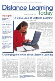 Issue 1 - United States Distance Learning Association