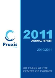 2011 Annual Report - Praxis Care