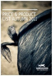 PRICE & PRODUCT LIST AUTUMN 2011 - Gamekeepers