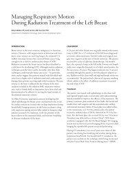 Managing Respiratory Motion During Radiation Treatment ... - Varian