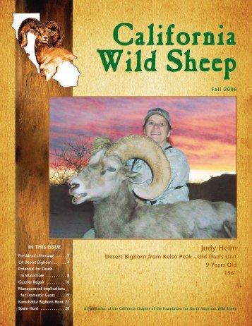 Judy Helm - California Chapter – Wild Sheep Foundation
