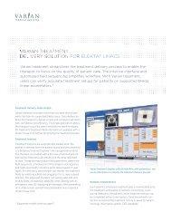 Varian Treatment for Elekta Linacs Product Brief