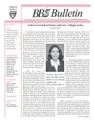 March/April 2007 - Division of Medical Sciences Bulletin