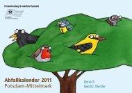 Abfallkalender 2011 Potsdam-Mittelmark