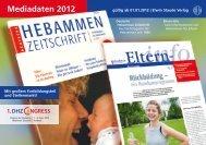 Mediadaten 2012 - Verlagsbüro ID Gmbh & Co. KG