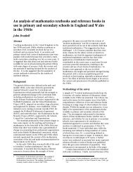An analysis of mathematics textbooks and reference books in use in ...