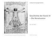 VL 6 Medici und Skulptur - KIT - IKB - Fachgebiet Kunstgeschichte