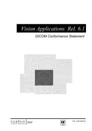 DICOM Conformance Statement Vision  Applications Rel. 6.1 - Varian