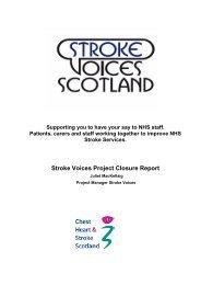 1 project closure report purpose - Chest Heart & Stroke Scotland