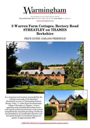 3 Warren Farm Cottages, Rectory Road STREATLEY ... - Warmingham