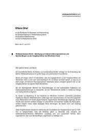 Offener Brief - wettbewerbsinitiative berlin