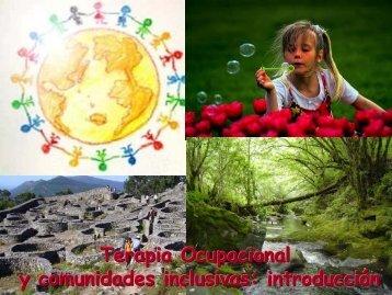 Terapia Ocupacional y comunidades inclusivas: introducción Docente