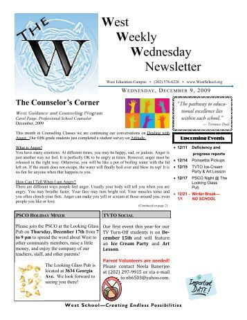 West Weekly Wednesday Newsletter - West Education Campus