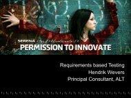 Requirements based Testing Hendrik Wevers ... - Serena Software