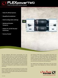 FLEXpower TWO Fully Pre-Wired Dual Inverter System