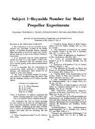 Reynolds Number for Model Propeller Experiment - ITTC