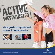 Your guide to sports and leisure in Westminster - Westminster City ...