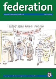 WEST MIDLANDS POLICE FEDERATION APRIL/MAY 2012 ...