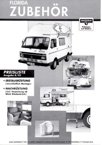 ZU bt rl\J S - VW Westfalia LT Camper Info Site