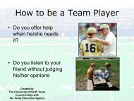 How to be a Team Player - University of North Texas