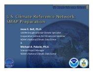 3. U.S. Climate Reference Network: SMAP Preparation (Jesse Bell ...