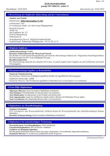 Möbel-Intensivpflege Nr. 662 - Auro (CH)