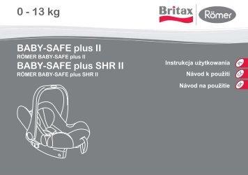 instrukcja baby safe plus 2 - Foteliki samochodowe