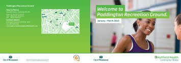 Paddington Recreation Ground. - Westminster City Council