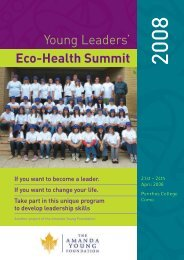 Young Leaders' Eco-Health Summit - Amanda Young Foundation