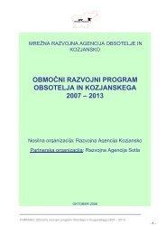 območni razvojni program obsotelja in kozjanskega 2007 – 2013