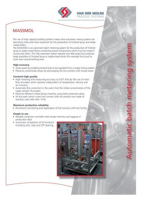 Download PDF-Brochure - Van der Molen GmbH