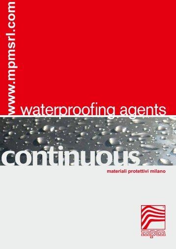 waterproofing agents - mpm
