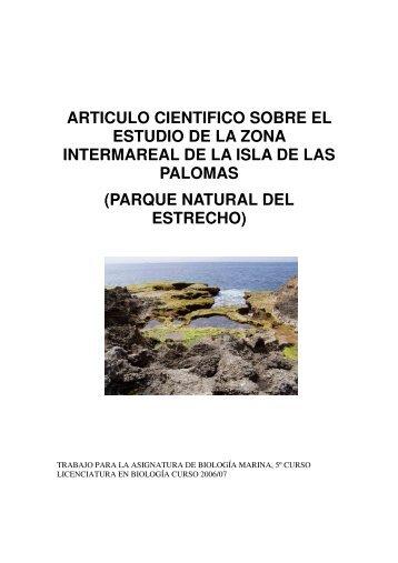 articulo cientifico sobre el estudio de la zona intermareal - BioScripts