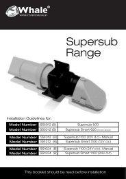 Supersub Range - Whale