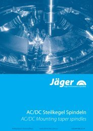 AC/DC шпиндели с конусным креплением Alfred Jager GmbH