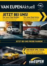 DER NEUE OPEL ADAM. - Autohandel Gebr. van Eupen GmbH